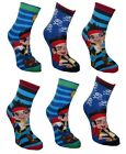 Jake and the Neverland Pirates Boys 6 Pack Non Skid Slipper Socks