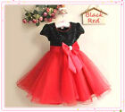 Black / Red Christmas Party Flower Girls Dresses Outfit SIZE 2-3-4-5-6-7-8-9-10T
