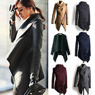 Womens Long Jacket Slim Collar Coat Outwear Casual TOP Trench Cardigan Parka SY
