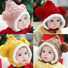 1 X Baby Hat Boy Girl Winter Fur Ball Bonnet Infant Ear Protector Cute Cap K69