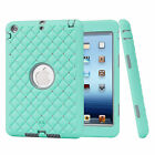 Crystal Defender 3 Layer Hybrid Shockproof Heavy Case Cover For iPad Mini 1/2/3