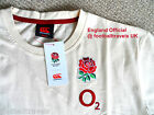 S M L ENGLAND RUGBY T SHIRT NEW Football Cotton By Canterbury New