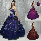 Lady A-Line Charm Evening Formal Party Prom Dress Ball Gown Size 6 8 10 12 14 16