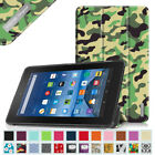 "For Amazon Kindle Fire 7 7"" 5th Gen 2015 Model Trifold Slim Leather Case Cover"