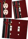 Arizona Cardinals light switch wall plate custom covers man cave room decor