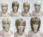 """elegant natural wave medium length 16"""" women' synthetic wig 7 color selection"""