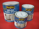 RUSTINS QUICK DRYING WHITE SATIN PAINT VARIOUS SIZES