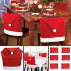 Christmas Santa Hat Dining Chair Back Covers Party Xmas Table Decoration <br/> Free 1st Class Shipping - Receive before Christmas.