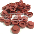 "16mm TERRACOTTA HEXAGONAL SCREW COVER CAPS TO FIT 8mm (5/16"") TEK SCREWS (AN5)"