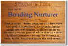 5 Faces of Food - Bonding Nurturer - NEW Nutrition Healthy Foods Diet POSTER