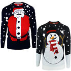 Brave Soul Adults 3D Christmas Jumper New Santa Snowman Knitted Festive Sweater
