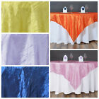 """10 pcs 60x60"""" Taffeta CRINKLED Table Overlays Wedding Party Banquet Linens SALE"""