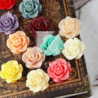 12 Colours Resin Cabochons Floral Vintage Rose Flower Cab 21x21mm Free Shipping