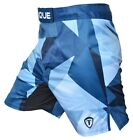Torque Blue Fortress Fight Shorts (Blue/White)