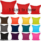 Plain Cushion Covers 100% Percale Cotton Decorative Pillow Cases 3 Size To Chooe