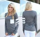 Women Ladies Casual Crochet Pullover Long Sleeve Loose Tops T-Shirt Blouse