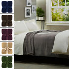 """Large 90""""x90"""" Queen Size Bed Fleece Throw Blanket Soft Fuzzy Plush Sofa Couch"""