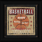 Basketball Linda Spivey 12x12 Hoops Nothing But Net Framed Art Print Picture