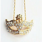 Fashion Charm jewelry Fox Mask Crystal vintage long Pendant Chain Necklace