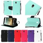 PU Leather Wallet Pouch Case Cover w/Strap For ZTE Prestige LTE N9132 Phone