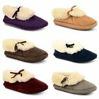 New Ladies Slippers Womens Winter Boots Girls Warm Fur Lined Ankle Bootie Shoes