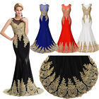 Sexy Luxury Mermaid Prom Dresses Formal Wedding Party Gown Evening Long Dress