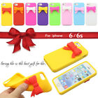 """3D Lovely Bow Tie Butterfly Bowknot Gel Silicone Soft Case For iPhone 6 6S 4.7"""""""