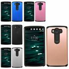 For LG V10 H901 Hybrid Shockproof Hard Rubber Protective Case Armor Impact Cover