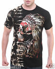 Survivor T-Shirt Sz M L XL XXL 3XL Biker Indian Vtg Tattoo mma Rock Studs S136