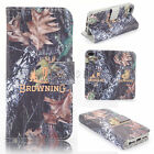 Realtree Browning deer Camo Wallet Flip Leather case for Various Phones H1-0030
