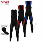 Mens Cycling Bib Tights Winter Thermal Padded Tights Leggings