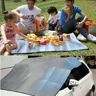 Outdoor Large 2-Sided Camping Picnic Mat Aluminum Beach Sleeping Rug Pad 1955
