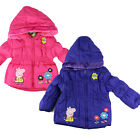 Peppa Pig Girls' Puffa Nursery School Coat Hooded Jacket Winter Coat