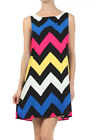 Pack Movie Wedding Event Party Travel Striped Sexy ZIGZAG Lined Dress S/M/L