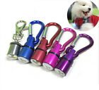 HO Aluminum Dog Cat Pet CA Safety Red Flashing LED Light Collar Tag Waterproof