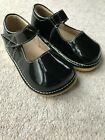 Girls Black Patent Leather Squeaky Shoes Toddler First Walker Shoes Party New