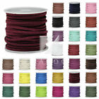 5m/Roll 30m Mixed Faux Suede Cord Wire Thread Thong Jewellery Handmade 3mmx1.5mm