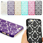 For iPhone 6 Plus 5 5S Rubberized Damask Vintage Pattern Matte Hard Case Cover