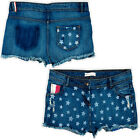 Brave Soul Womens American Flag Shorts Mickey High Waisted Denim Summer Pants