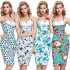 Ladies Retro 1950's style Pencil Wiggle Pin-up Dress Free Shipping!