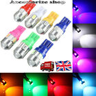 UPTO 10X T10 501 W5W CAR SIDELIGHT BULB NON CANBUS 6SMD 10SMD LED XENON COLOUR