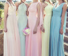 1 Elegant DIY Dressing Wedding Formal Bridesmaid Party Gown Prom Evening Dress