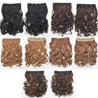 Women's Natural Long Curly Wavy Hair Extension Ombre Colors Clip In Cosplay
