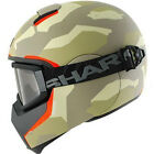 SHARK VANCORE WIPEOUT MATT CAMO ORANGE MOTORCYCLE URBAN HELMET + GOGGLES