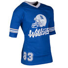 Mens North Western Wildcats V-Neck T-Shirt American Football Jersey Size