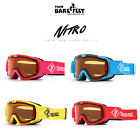 Two Bare Feet NITRO Junior Ski Goggles Fixed Lens Kids Snow Skiing Snowboard
