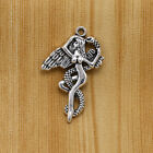 5/20/100Ps Gothic Angel &Serpent Pendant Nude Woman Snake Temptation Good v Evil