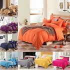 3 Pieces 100% Cotton Solid  Bed Quilt Duvet Cover And Pillowcases Set
