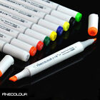 FINECOLOUR Set Marker Pen Sketch Manga Graphic + Bag  EF101 24 36 60 72 Color