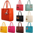Fashion Women Leather Handbag Shoulder Bag Ladies Candy Color Flowers Purse Tote